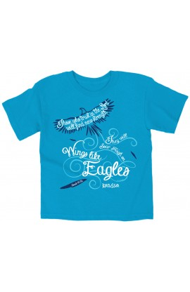 WINGS LIKE EAGLES KIDS T SHIRT
