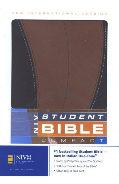 NIV STUDENT BIBLE COMPACT CHOCOLATE CARAMEL