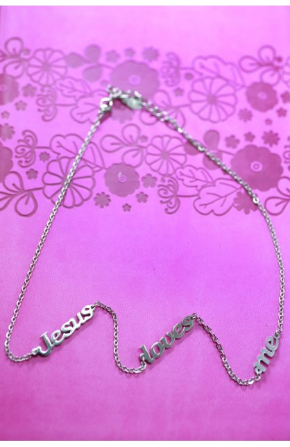 JESUS LOVES ME SEPARATED NECKLACE