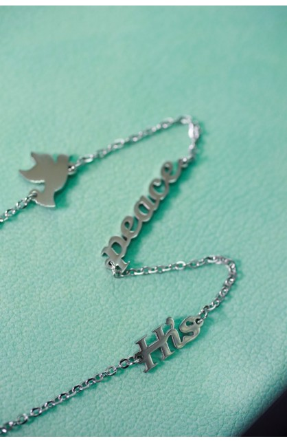 HIS PEACE SEPARATED NECKLACE