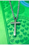 SMALL GEOMETRIC CROSS NECKLACE
