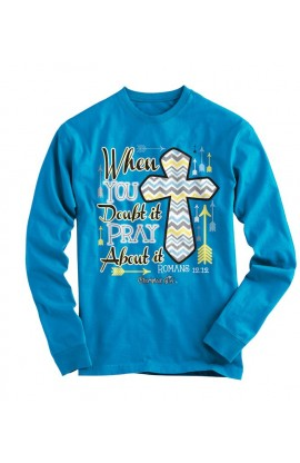 PRAY ABOUT IT CHERISHED GIRL LONG SLEEVE T