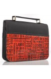 """""""Names of Jesus"""" Bible Cover in Black & Red (Large)"""