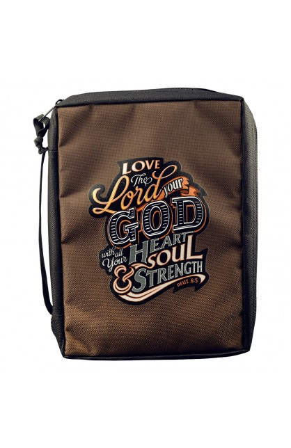 """Love The Lord Your God"" Poly-Canvas Bible Cover (Large)"