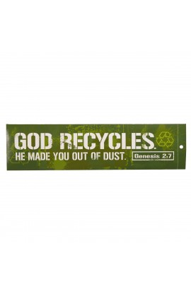 God Recycles   Bumper Sticker