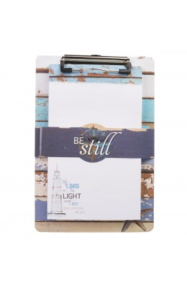 """Be Still"" Clipboard and Notepad Featuring Psalm 27:1"