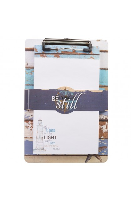 """""""Be Still"""" Clipboard and Notepad Featuring Psalm 27:1"""