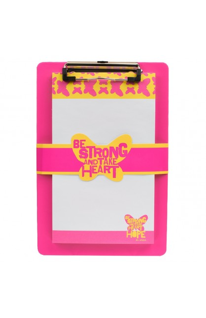 """Pink """"Wings of Joy"""" Clipboard and Notepad Featuring Psalm 31:24"""