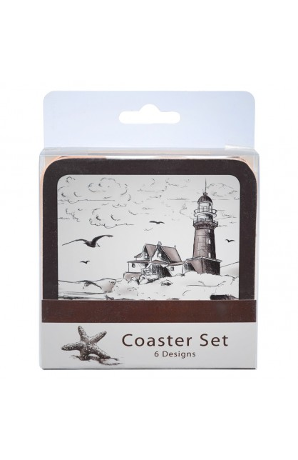Nautical (Brown) Coaster Set