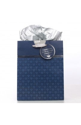 Proverbs 3:5-6 Navy Graduation Gift Bag