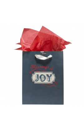 "Medium Gift Bag ""Retro Collection: Joy"" - Neh. 8:10"