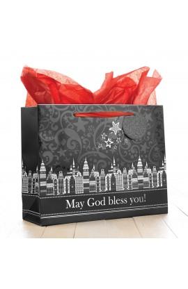 "Large Gift Bag ""May God Bless You"""