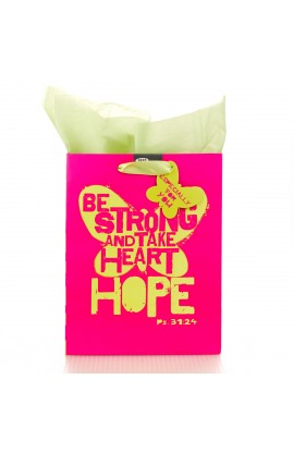 "Medium Gift Bag ""Be Strong"" - Ps 31:24"