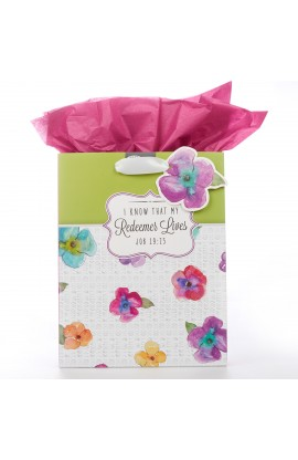 "Medium Gift Bag ""I Know that My Redeemer Lives"" -  Job 19:25"