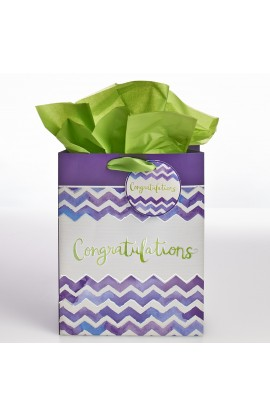 "Medium Gift Bag ""Congratulations"" - Ps 20:4"