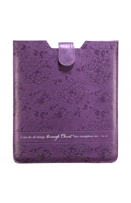 Purple Inspirational Tablet Case / Sleeve   Philippians 4:13