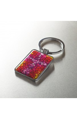 Stained Glass Motif Keyring