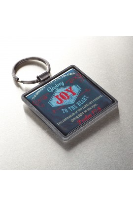 """Joy"" Metal Keyring Featuring Psalm 19:8"