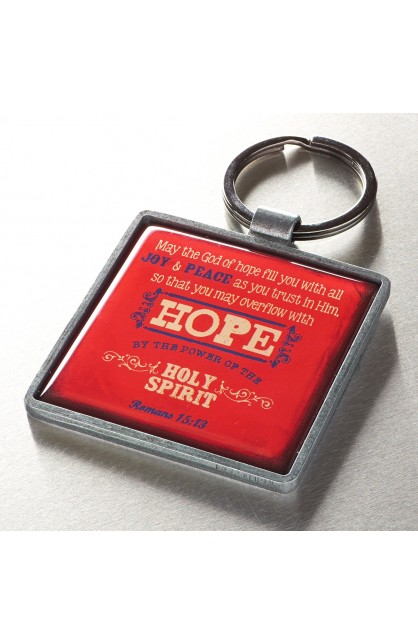 """Hope"" Metal Keyring Featuring Rom 15:3"