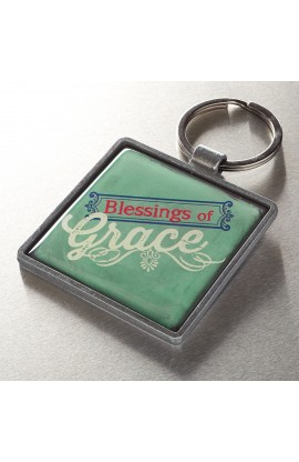 """Grace"" Metal Keyring Featuring 2 Pet. 1:2"