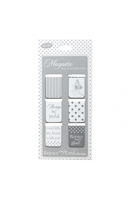 """Rejoice"" Set of 6 Small Magnetic Pagemarkers"