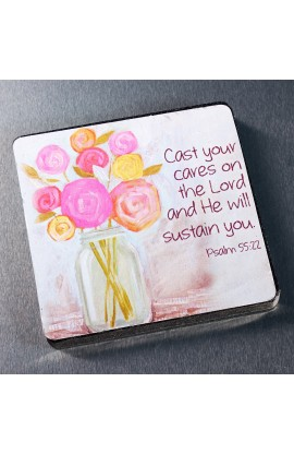 """Cast Your Cares on the Lord"" Magnet"
