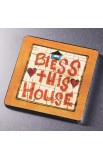 """Bless This House"" Wood Magnet"