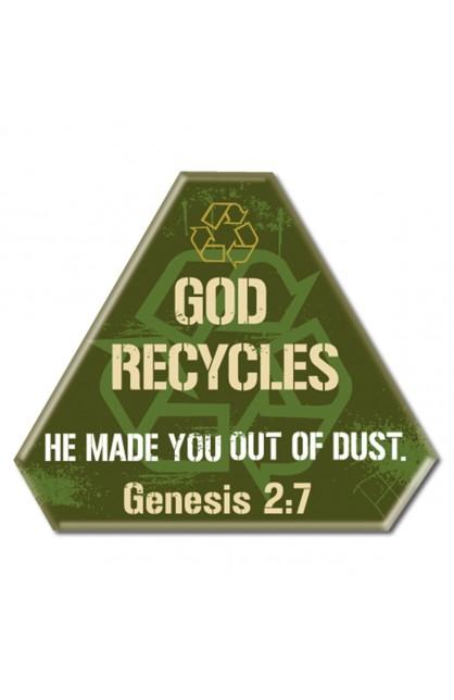 God Recycles - Metal Pin