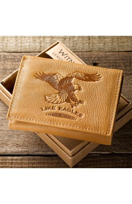 """""""Like Eagles"""" Leaher Wallet    Isa 40:31"""