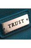 "Fine Textured Vinyl Wristlet Coin Purse w/""Trust"" Badge (Blue)"