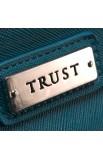 "Fine Textured Vinyl Wallet w/""Trust"" Badge (Blue)"
