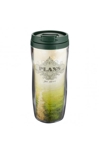 """Plans"" Polymer Travel Mug - Jeremiah 29:11"