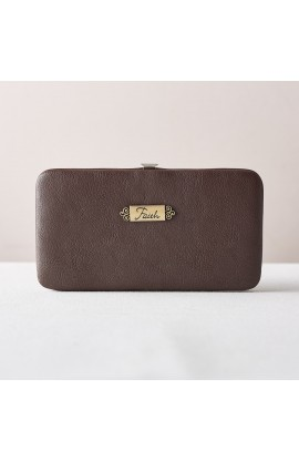 """Faith"" Opera Wallet in Brown"