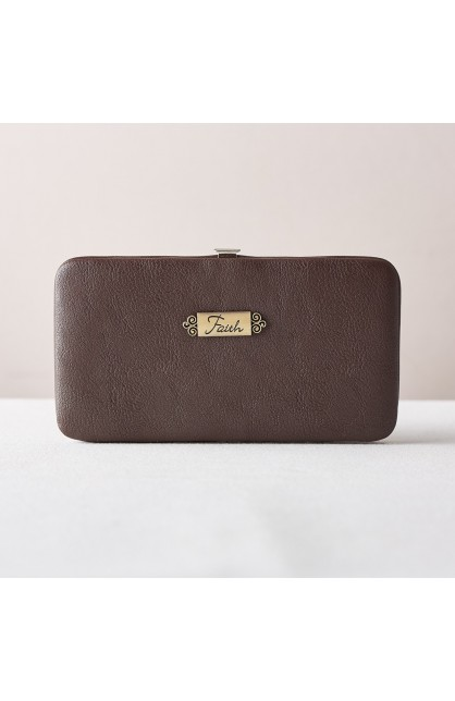 """""""Faith"""" Opera Wallet in Brown"""