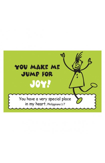 """Jump for Joy"" Pass Around Card"