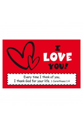 """I Love You"" Pass Around Card"