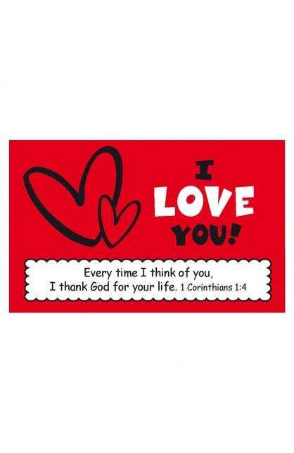 """I Love You"" Pass Around Card"