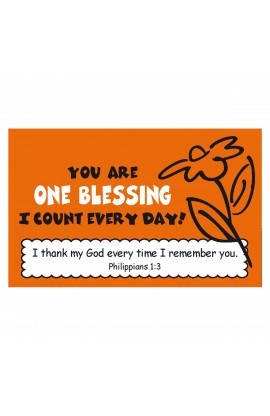 """One Blessing"" Pass Around Card"