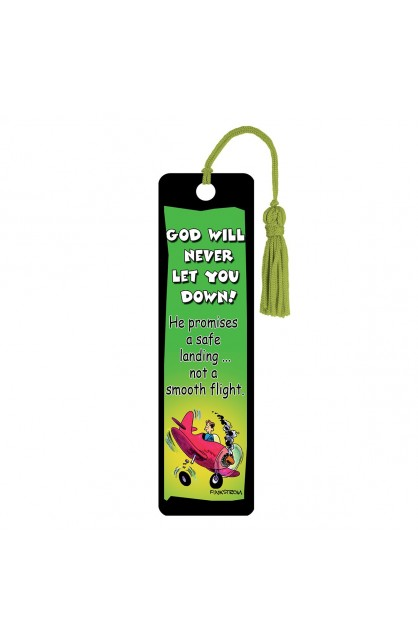 God will never let you down - Tassle Bookmark