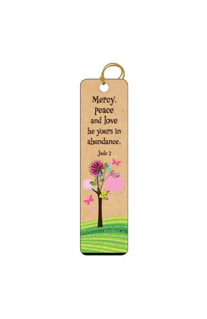 Mercy Peace Love - Tassle Bookmark