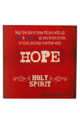 """Retro Collection: Hope"" Wooden Wall Dec?r Plaque"