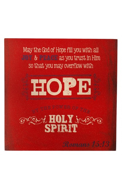 """""""Retro Collection: Hope"""" Wooden Wall Dec?r Plaque"""