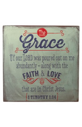 """Retro Collection: Grace"" Wooden Wall Dec?r Plaque"
