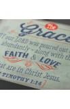 """Retro Collection: Grace"" Wooden Wall Dec?r Plaque"