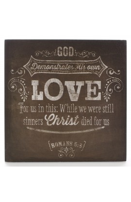 """Chalkboard Collection: Love"" Wooden Wall Dec?r Plaque"