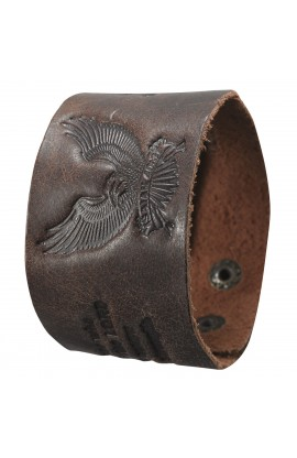 On Eagles Wings Leather Wriststrap