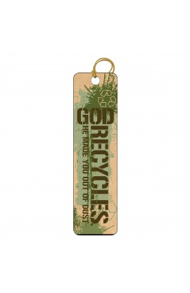 God Recycles Tassle Bookmark