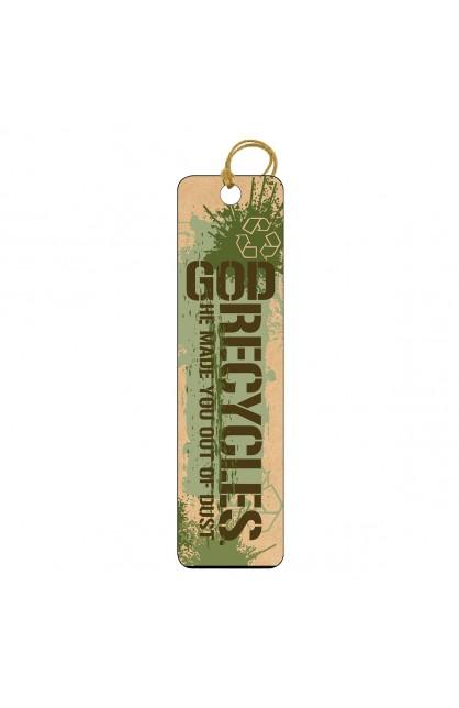 God Recycles - Tassle Bookmark