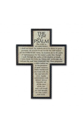 PSALM 23 LARGE WALL CROSS