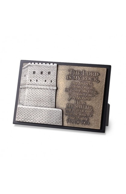 STRONG FORTRESS SMALL SCULPTURE PLAQUE